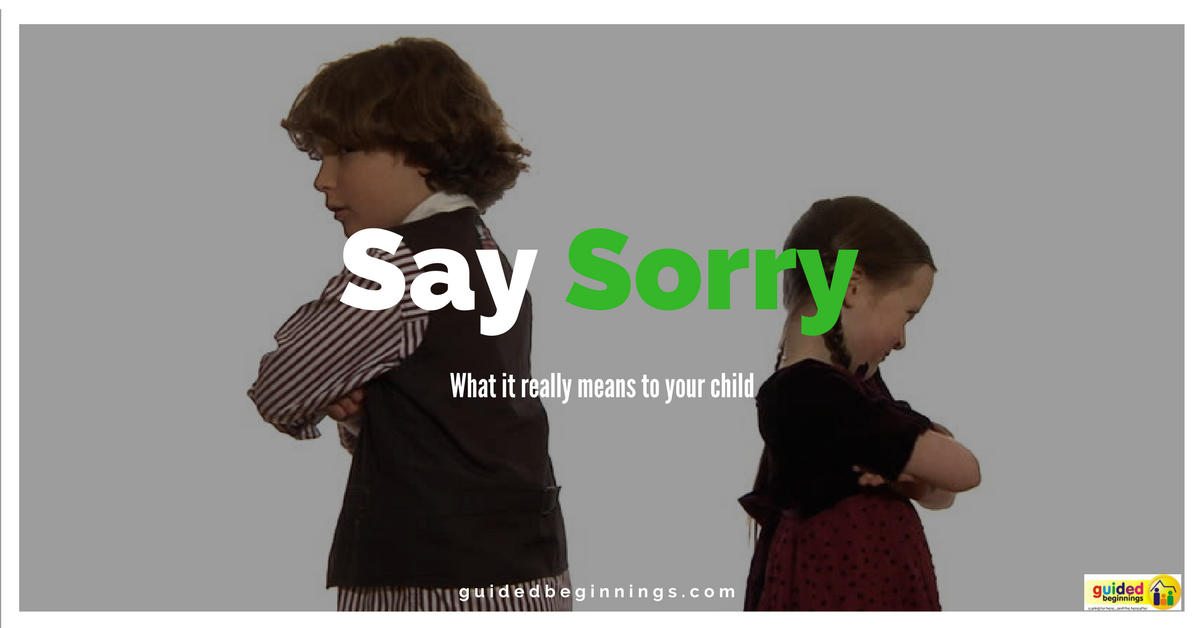 Say Sorry: What It really means to your child
